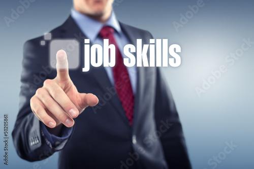 Man touching display Job Skills