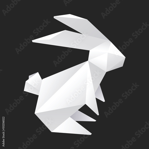 Origami Rabbit Vector