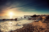 Fototapety Beautiful sunrise above the sea