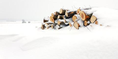 Schneeverwehung im Winter