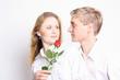 Paar mit Rose