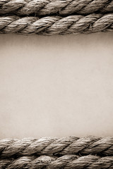 ropes on old vintage  paper background