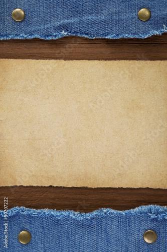 blue jean on wood texture