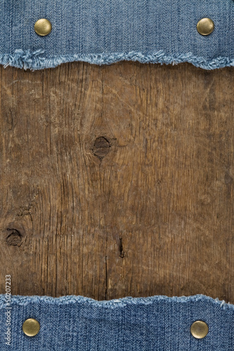 blue jean on wood texture
