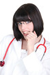 young medical assistant posing