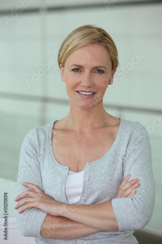 Portrait of blond woman