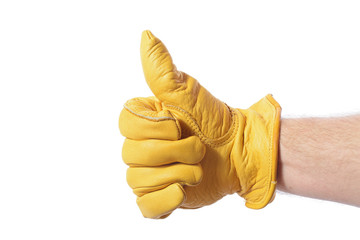 construction glove thumbs up