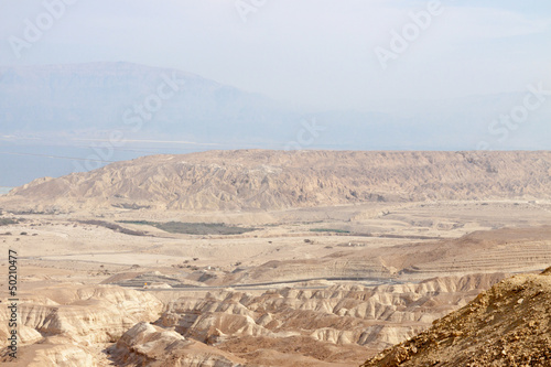 Panorama of mountains near Dead sea