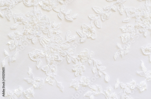 Fotobehang Stof White wedding lace