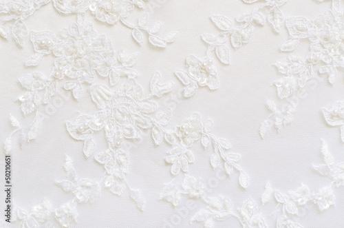 Tuinposter Stof White wedding lace