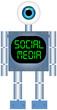 social media icon, vector
