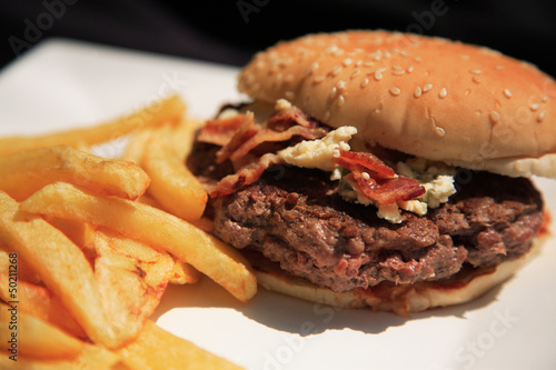 Bacon and blue cheese burger