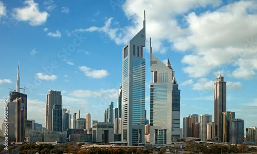 Naklejka Dubai Skyline