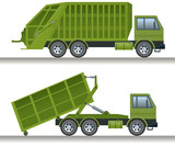 Garbage truck and waste disposal truck