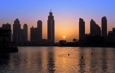Dubai coloful Sunset