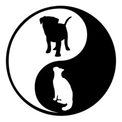 Yin Yang Dog Cat