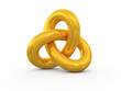 Torus Knot 3d render illustration
