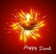Happy diwali diya celebration shiny colorful hindu festival vec