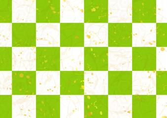 和紙風緑茶市松