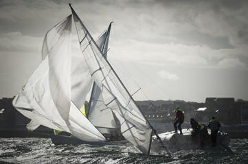 maneuver at regatta