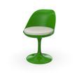 Retro Design Stuhl - Grün Weiß