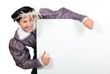 Man in fancy dress costume