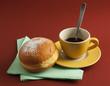 Colazione caffè brioche