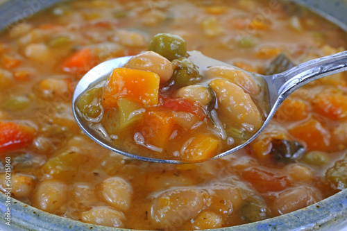 Italian Vegetable Bean Soup Spoonful