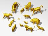 golden Animals; a majority attack a minority