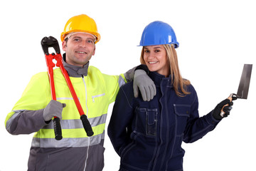 Male and female workers