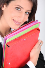 Young professional holder folders
