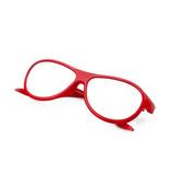 occhiali rossi