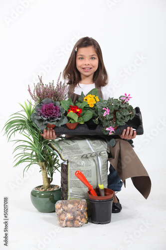 Portrait of a young florist