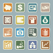 Finance and money  sticker icon set.
