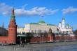 Moscow Kremlin panorama. Big Kremlin Palace.