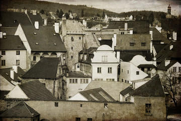 Krumlov. The old town in the South Bohemian region of the Czech