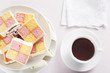 Tea and Battenberg Cake