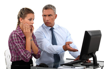 Boss angry with secretary