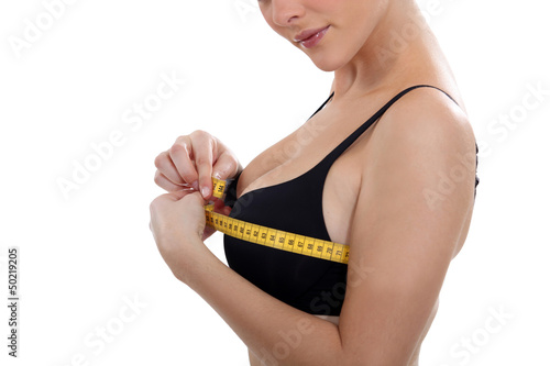 Women's chest size measured