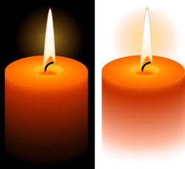 Isolated candle