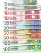 Euro banknotes as background
