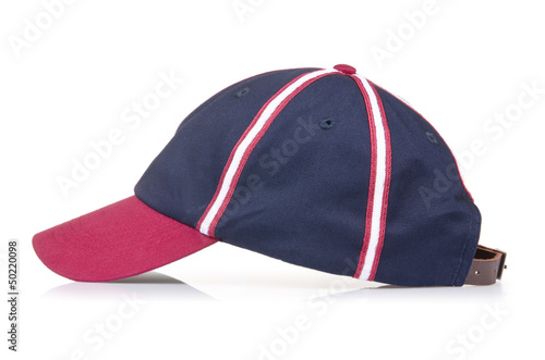 Male baseball hat isolated on white