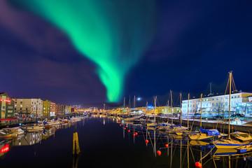 Nordlicht in Trondheim  Norwegen