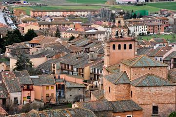 Vista del pueblo de Ayllón, Segovia (España)