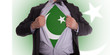 Business man with Pakistan flag t-shirt