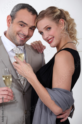 Couple enjoying a romantic evening together