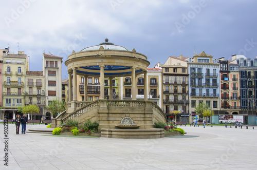 Castle Square in Pamplona,Spain