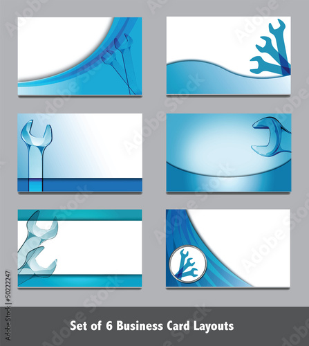 Spanner Business Card Templates