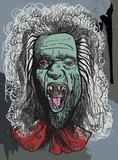 Supernatural talking head from the Crypt - an hand drawing poster