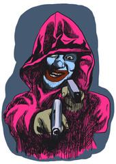 Psycho killer - An hand drawing